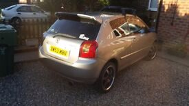 Toyota Corrola 2004 1.8 tsport 200 plus bhp reliable