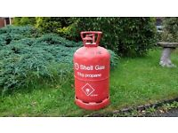 Propane gas cylinder with some gas in