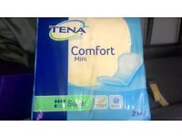 tena comfort mini incontinance pads