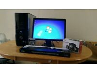"""Dell XPS 430 Quad Core Gaming Desktop Computer PC With Dell 21"""""""