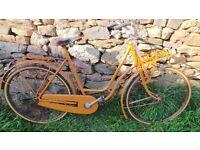 Vintage Veteran Venetia Ladies Porteur Bike Bicycle Cycle Swan Neck Frame Single Speed Rod Brakes