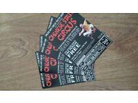 4 chinese kungfu circus tickets