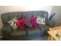 3 Seater Leather Sofa £40 ONO