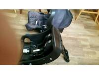Baby car seat Graco with the base