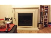 Cream fire place for sale electric just selling as getting log burner fitted