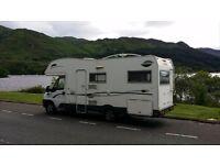 6 berth motorhome, campervan, camper, CI Riviera 181, 2006 fiat ducato maxi 21694 Mileage