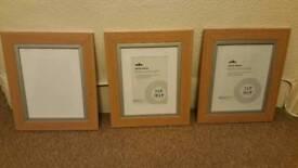 Oak effect picture frames