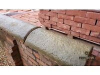 Half Round Concrete Wall Coping | Brick | Feature | Garden | Sandstone Imitation