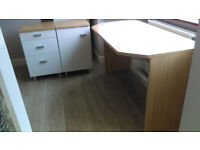 Desk, draws and cupboard set Mint condition White gloss Can deliver