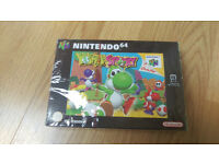 BRAND NEW SEALED YOSHIS STORY NINTENDO 64 N64 PAL RED STRIP NINTENDO £750