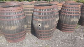 Half and whole whisky barrels