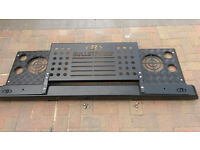 Land rover defender grill and heavy duty bumper set.