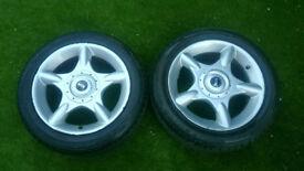 Mini alloys and tyres
