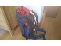 Macpac Possum child carrier + sunshade + raincover insect screen baby toddler rucksack backpack
