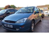 Blue Ford Focus Ghia 1.6 good condition, drives well but needs a few minor things replacing
