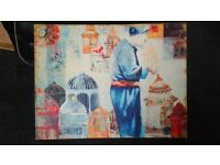 Large painting on canvas 81cmLx61cmHx5cmDia.