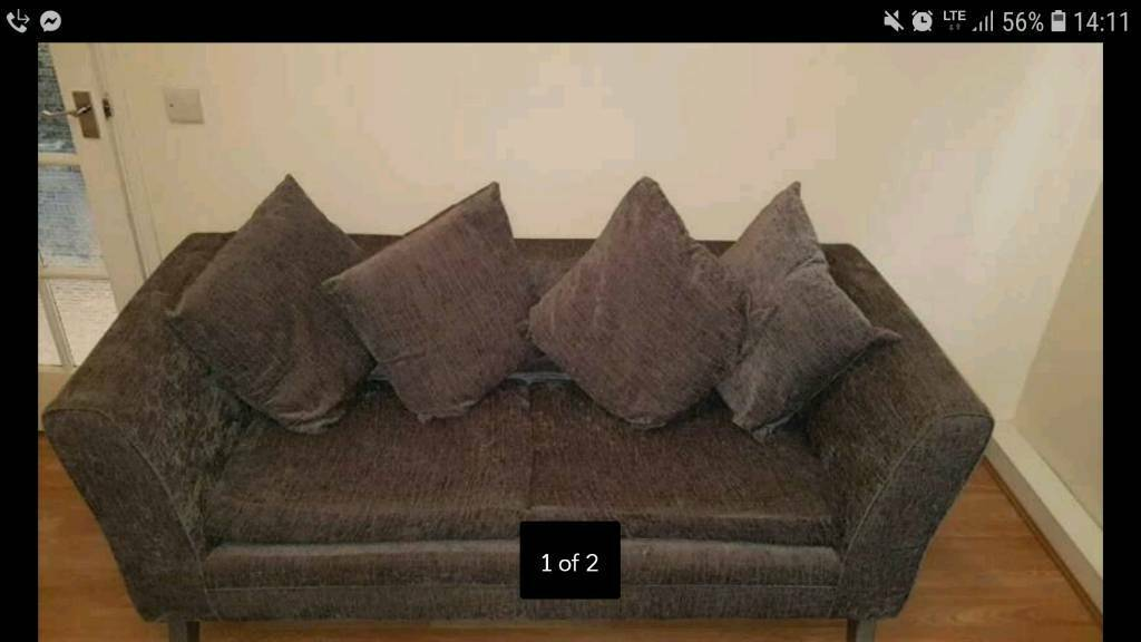 5d739f51f9d0 **URGENT** REDUCED TO CLEAR. Two Bentincks grey 3 seater sofas