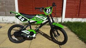 Kids BMX Bike Motobike MXR750 Looks Like a MotorBike with Stand Great Condition