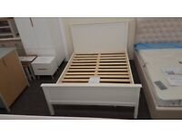 Julian Bowen Maine Surf White King Size Bed Frame (BED ONLY) Can Deliver