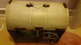 Shabby chic dog crate