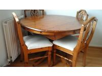 DUCAL DINING TABLE AND FOUR CHAIRS