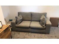 Next boucle weave dark grey medium sofa