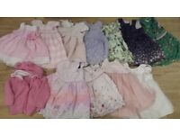 Baby girls dresses / clothes age 6-9 months and 9-12 months