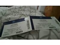 2x justin bieber tickets / Monday 28th november BLOCK 106 ( Cracking seats)