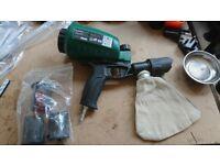 Air sandblaster gun 0.9L tank sand blaster aluminium oxide