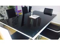 Designer dinning table and 6 chairs