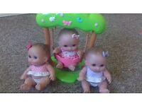 little cuties dolls with swing
