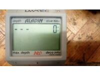 Aladin Pro Dive computer, new battery, protective screen