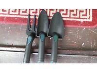 3 Pieces Garden Hand Tools