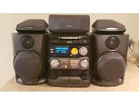 Philips FW-P750 5-Speaker Surround Sound HiFi with remote (3 CD/Radio/Cassette/Aux/Optical out)