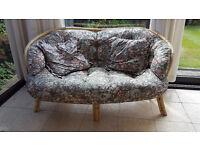 Wicker conservatory sofa
