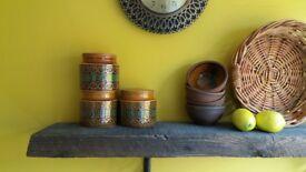 Hornsea pottery/Hornsea canisters/Hornsea kitchen storage/Hornsea bronte/Hornsea kitchenware