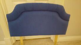 Single blue headboard