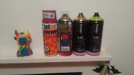 4 Spray Paint Cans - Hardly Used
