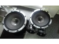 vibe black death 1400 watt amp and two 600 watt subs and two 300 watt compression driver