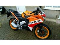 Cbr 125r repsol orange 2 owners from new lovely bike
