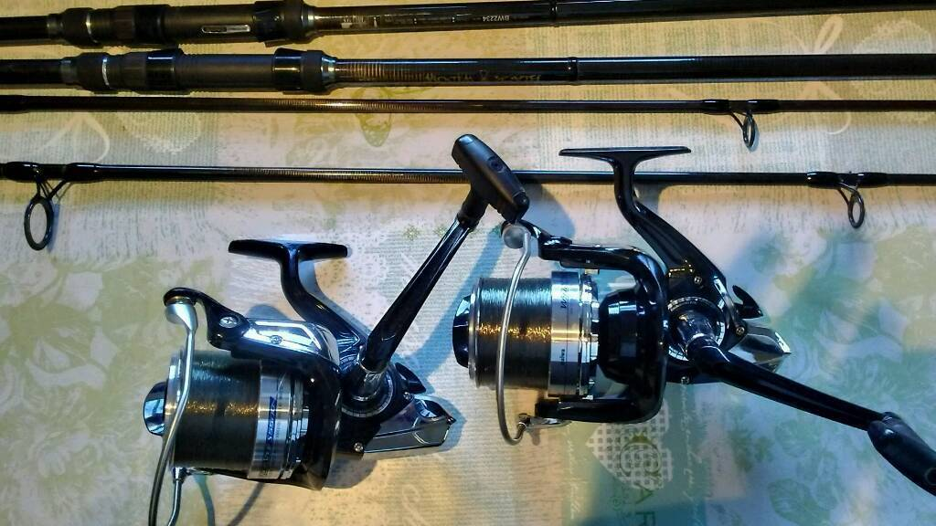 2x daiwa black widow rod and daiwa windcast s 5500 reels with cloth bags  and spare spools | in Newport Pagnell, Buckinghamshire | Gumtree