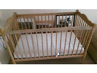 Toddler wooden cot for sale