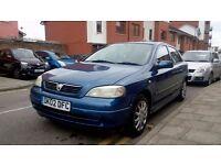Vauxhall Astra. 1,6 8V. 2002. Only 80K mileage. MOT: Sep '17