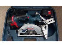 Bosch 24v circular saw +2x 24 v NiMh batteries