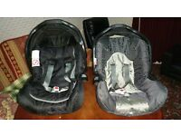 2 Baby car seats (reduced 4 quick sale)