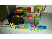Mega blocks bricks table tub & more