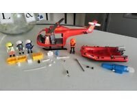 PLAYMOBIL S.O.S RESCUE HELICOPTER & BUOY MOTOR BOAT