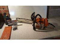 MS260 stihl chainsaw with accessories in excellent working order .