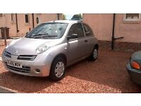 NISSAN MICRA 1.2 16v S 3 DOOR HATCHBACK. 2005. FULL MOT NO ADVISORIES.IMMACULATE .SHOWROOM CONDITION