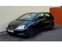 2002 HONDA CIVIC TYPE R 2.0 VTEC NATIONWIDE DELIVERY CREDIT CARD FACILITY GURANTEED £200 PX VALUE